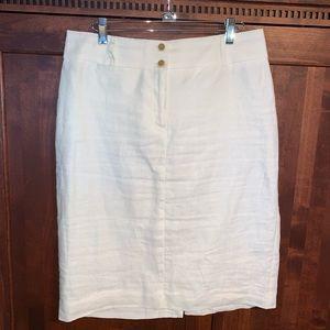 Banana Republic linen white shirt